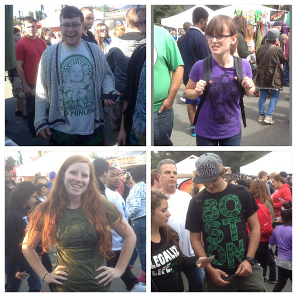 minutia, minutia tshirts, booth, boston freedom rally, hempfest, potfest