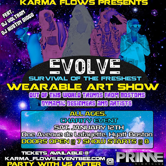 minutia, karmaflows, tshirt, boston, fashion, fashionshow, artshow