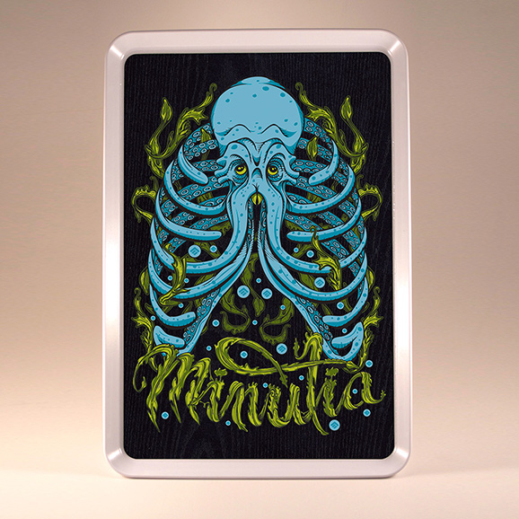cthulhu, octopus, rolling tray, rollingtray, 420, weed, minutia